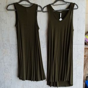 New army green sleeveless dress